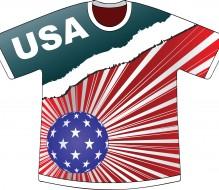 american flag creative t-shirt