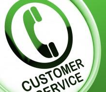 customer service green phone button