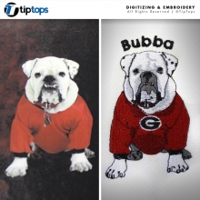 Bulldog- Digitized & Embroidered
