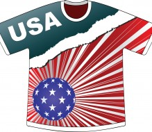 american flag creative t-shirt